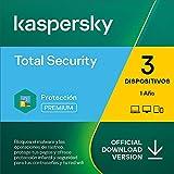 Kaspersky Total Security 2021   3 Dispositivos   1 Año   PC / Mac / Android   Código de activación vía correo electrónico