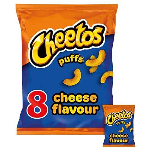 Cheetos Sbuffi Di Formaggio 8 Snack Pack 8 X 13g Cheetos Cheese Puffs 8 Pack Snacks 8 x 13g Quantità: 1