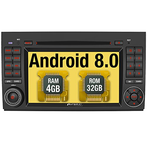 Pumpkin Android 8.0 Autoradio Radio für Mercedes-Benz A Klasse/B Klasse/Vito mit Navi Unterstützt Bluetooth DAB + USB CD DVD Android Auto WLAN 4G MicroSD 2 Din 7 Zoll Bildschirm