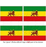 Äthiopien ehemaligen Äthiopische Löwe von Juda Flagge Afrika 5,1cm (50mm) Vinyl bumper-helmet Sticker, Aufkleber X4
