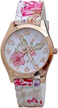 Hessimy Womens Fashion Watches New Ladies Business Bracelet Watch Luxury Crystal Sport Casual Leather Band Retro Floral Print Digital Analog Quartz Wrist Watches for Women