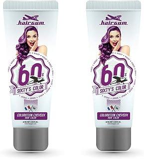 Hairgum Violet Sixty's Colour Cream, Semi-permanent Hair Dye, 2 x 60ml