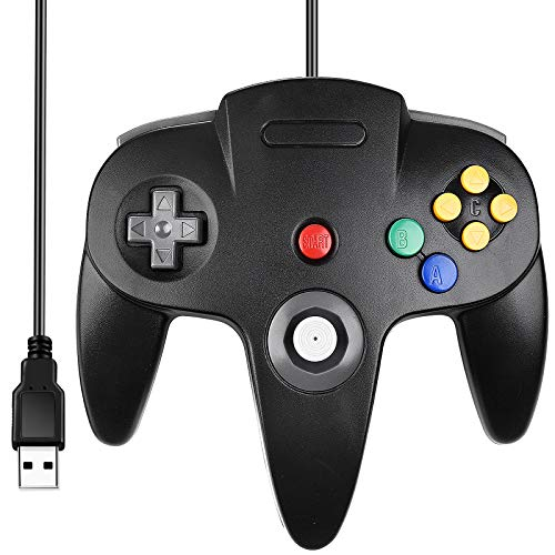 [USB Version] Classic N64 Controller, SAFFUN N64 Wired USB PC Game pad...