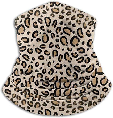 Neck Gaiter Warmer Windproof Mask Dust - Free UV Face Mask - Leopard Print Tan Natural Animal Cheetah Safari Print