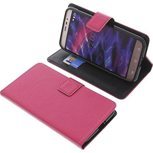 foto-kontor Tasche für MEDION Life P5006 Book Style pink Schutz Hülle Buch
