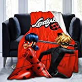 DG1S2A11A Fashion Flannel Blanket Lady_Bug Cat Soft Throw Blanket Ultra-Soft Micro Fleece Blanket for All Season