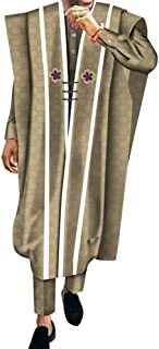 Men's Fragranced African Attire Grand Boubou Jacquard 3 Piece Traditional Pants Set