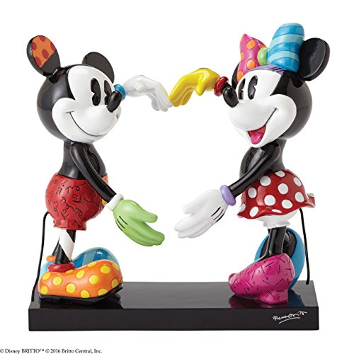 Enesco 4055228 Mickey E Minnie Figurina, Ceramica, Multicolore, 14x16x17 cm