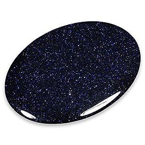 CrystalAge Blue Goldstone Palm Stone