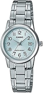 Casio Womens Quartz Watch, Analog Display and Stainless Steel Strap LTP-V002D-2BUDF