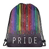 Gay Pride Barcode LGBT Drstring Bolsas ligeras gimnasio deporte bapa para viajes playa