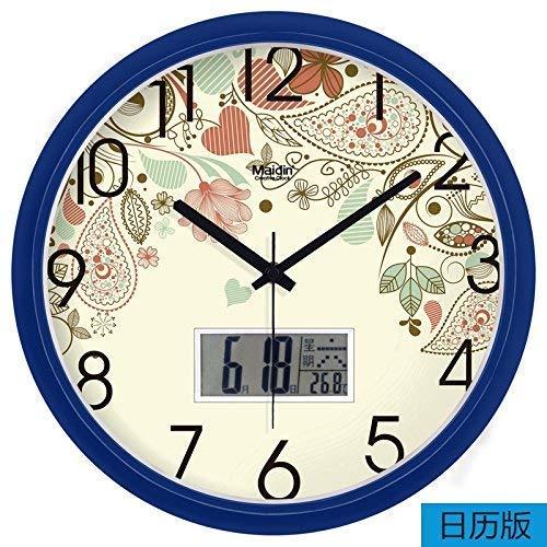 HYY-YY el diseño del hogar del Reloj del Arte Decorativo Mudo Moderno Reloj de un Reloj Digital Reloj de Cuarzo de Las escuelas de Cocina de Oficina en casa Son Ideales Cualquier room13In.Zafiro Azul