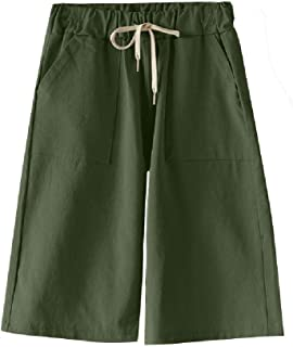 Coolred Women's Elastic Waist Oversized 2PCS Panties Baggy Style Short