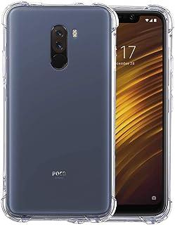 Amagav Transparent Xiaomi Poco F1 Silicone Soft Mobile Phone Back Cover Compatible For Xiaomi Poco F1