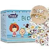 URFEDA 120 Piezas impermeable Tiritas Infantiles Caja Band-Aid de Dibujos apósito para heridas de Dibujos Animados Especialmente Adecuado apósitos adhesivos para heridas en los Dedos