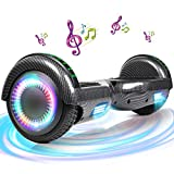 SISGAD Hoverboard, Électrique Gyropode 6,5 Pouces LED Hoverboard Self Balance Scooter, 2 * 300W...