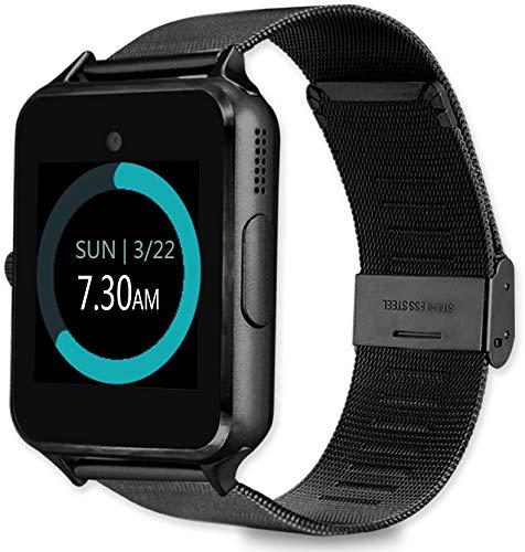 MyTECH Smartwatch Z60 Reloj Celular con Extensible de Metal Bluetooth con Cámara para iPhone Android…
