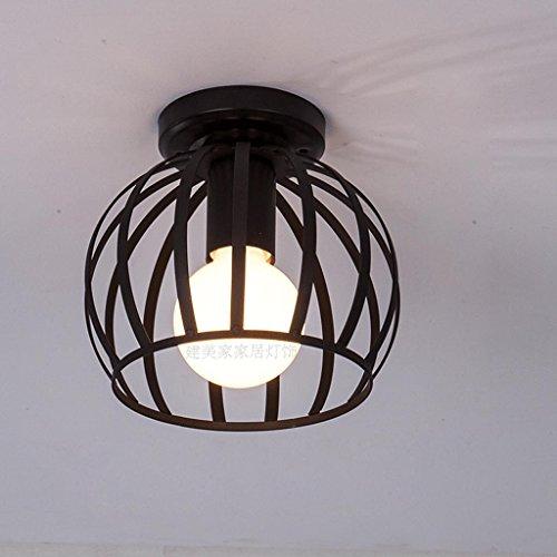 Plafón de estilo vintage industrial Style Design–Luz de techo en color negro,...
