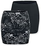 Black Premium by EMP The Double Life Mujer Minifalda Negro/Gris L