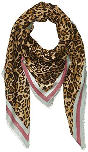 KARL LAGERFELD Paris Damen Leopard Border Modal and Silk Square Scarf Schal für kaltes Wetter, Einheitsgröße