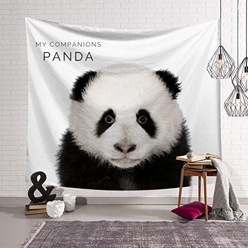 Tapiz De Animal Lindo Panda Tapiz Para Colgar En La Pared Tapices De Impresión Digital,Tela De Impresión De Decoración De Arte Para Niños,Dormitorio,Decoración De Pared Estética,40' x 30'