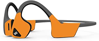 MightySkins Skin Compatible with Aftershokz Trekz Air Wireless - Solid Orange | Protective, Durable, and Unique Vinyl Deca...
