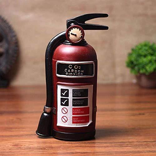 amazyn Decoración del hogar Artesanía Nordic Retro Simulación Extintor de Incendios Decoración del hogar Decoración Bar Ventana...