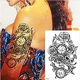 yyyDL tatuajes temporales tatuaje brújula tatuaje tatuaje de larga duración pegatina palabras 3d niños tatuaje hombres brazo tatuaje mangas niños 21 * 15 cm 4 piezas