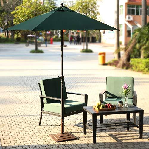 Giow Sombrilla de Patio al Aire Libre, sombrilla Plegable de Poste de Acero para sombrilla de jardín de 7.5 pies para protección contra Rayos UV en el Dosel de la Playa