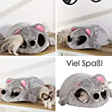 Youth Union Animal Maison Sac de Couchage Cuddle Pochette Lit Animal de Compagnie Lavable en Machine Tapis de Maison Confortable pour Burrower Chatons Chats Chiens Chiots(50x40x21cm, Gris 3)