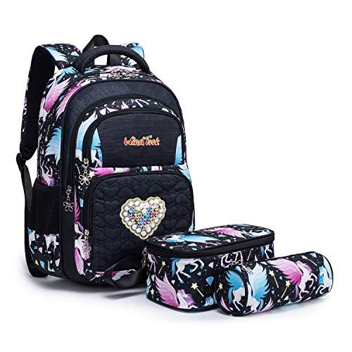 Wind Took  Kinderrucksack Schulrucksack Schultasche Teenager Rucksack Backpack Mädchen Jungen Kinder, L, Schwarz