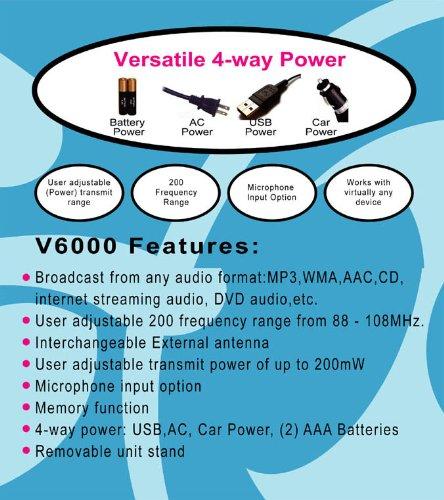Mobile Black Box V6000 Fm Audio Transmitter