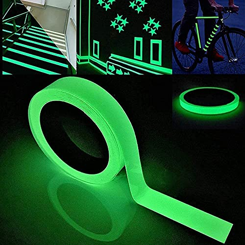 ZANLION Family Luminous Strip Wall Sticker Removable, Glow in The Dark Tape Self Adhesive Wallpaper, DIY Fluorescent Floor Car Sticker, Mural Decals Vinyl Art Room Decor (2 CM x 3 M)