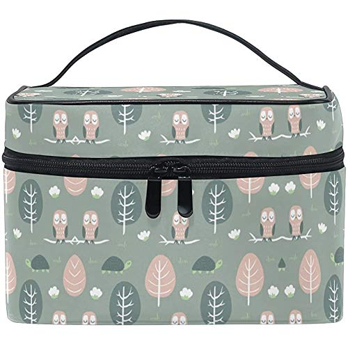 Trousse de Maquillage Cartoon Owl Turtle Travel Cosmetic Bags Organizer Train Case Toiletry Make Up Pouch