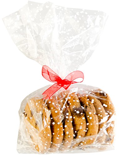 StarPack Premium Treat Bags, Party Favor Bags, Christmas Cookie Bags - Set of 20 (Regular Size)