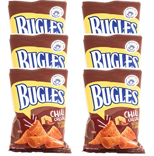 Bugles Chili Cheese Corn Snacks, 3 oz. (Pack of 6)