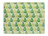 Creative Tops OTT - Protector de encimera de cristal templado (40 x 30 cm), diseño de Let's Avocudle, multicolor