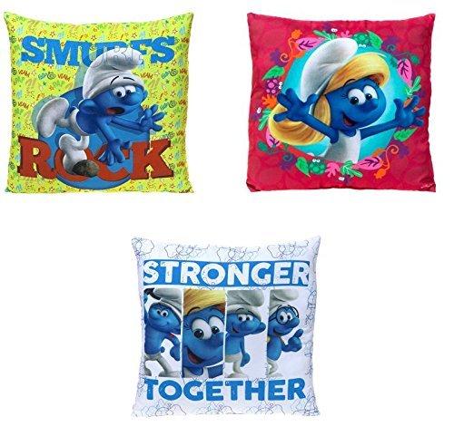 35cm Children's Licensed Smurf Cushion - Children's Bedroom Decor - Smurfs Movie - 1 Picked at Randon
