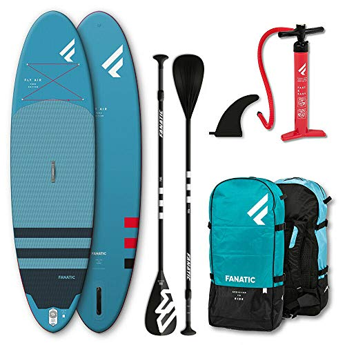Fanatic Fly Air Pure Inflatable SUP 10.4 Stand up Paddle Board mit Pure Paddel 315cm