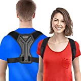 Gritin Posture Corrector for Men and Women, High Elastic Adjustable Upper Back Brace
