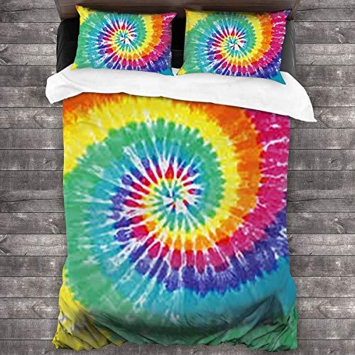 Fantastic Prices! SAIKOUNOYA Tie-Dye Vector Art Pattern Bedding Sheet Set Soft 3-Pieces Bed Sets Com...