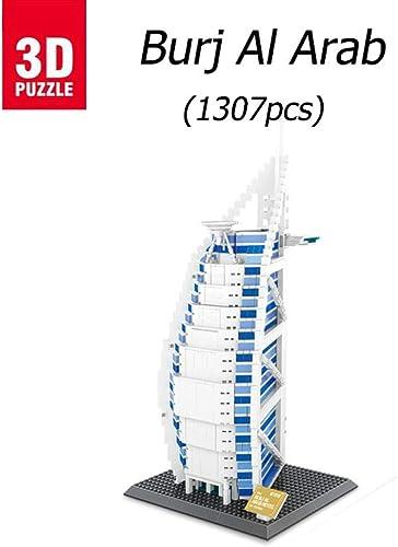 asdfgh Burj Al Arab Hotel,3D-Puzzle Building BAU Eines Modell Puzzle 3D Modell Puzzle,Geschenke Und Andenken Für Erwachsene Und Kinder, Lernspielzeug, Das Mit Kindern Interagieren Kann