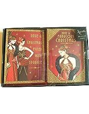 Förspel art deco – fantastisk jul – låda med 16 glittrande julkort