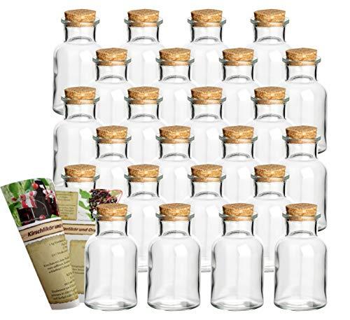 incl Quadrat 12 oder 24 eckige 120 ml Korkengläser Stopfen Gewürzgläser