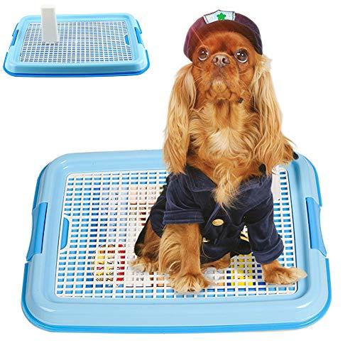 Große Hundetoilette Hundeklo Toilette Indoor Hundetöpfchen Welpentoilette Trainingsunterlage Tier WC Mülleimer Hunde Toilette Hundetraining Bodenschutzschalen 64 * 44 * 3CM
