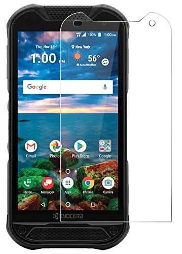 Nakedcellphone Tempered Glass Compatible with Kyocera Duraforce Pro 2 Phone, 2X 9H Hard Clear Screen Protector Guard [Crack Saver] for E6910/E6920
