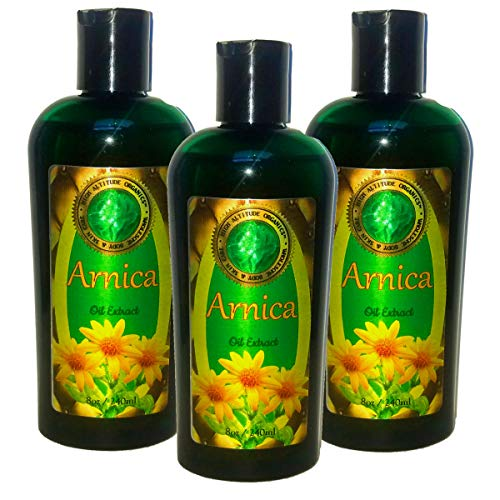 Best Price! (Pack of 3) 8oz ARNICA Montana Oil Extract- HIGH ALTITUDE ORGANICS - Muscle & Joint Pain...