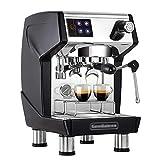 Máquina de café semiautomática Italiana Comercial Equipo de cafetería de té recién molido Negro jianyou (Color: Negro)