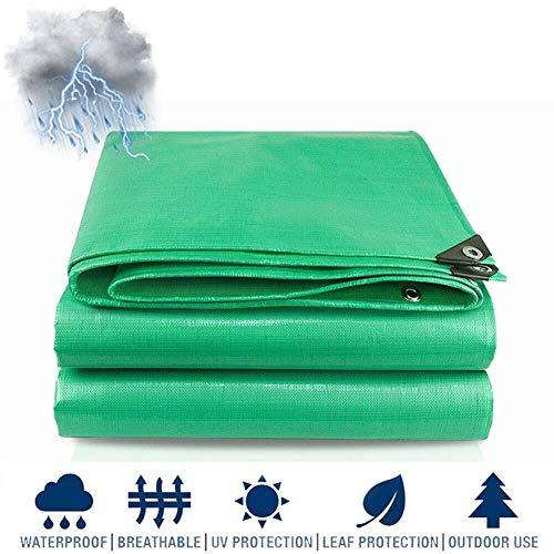 Lona impermeable Lona gruesa, Las lonas impermeables for trabajo pesado al aire libre, Multi-PurposeTarpaulin grande, abrigo de la lluvia de Emergencia, Planta Hoja de tienda de campaña cubierta con o