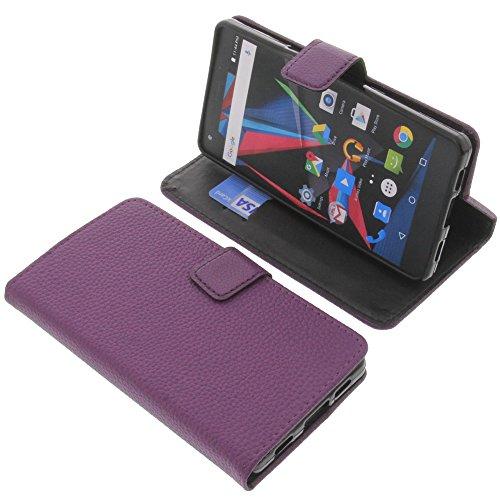 foto-kontor Tasche für Archos Diamond 2 Plus Book Style lila Schutz Hülle Buch